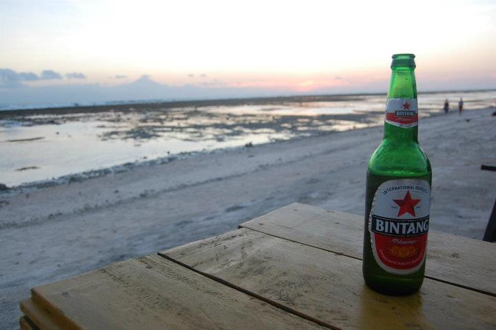 Bintang and the beach