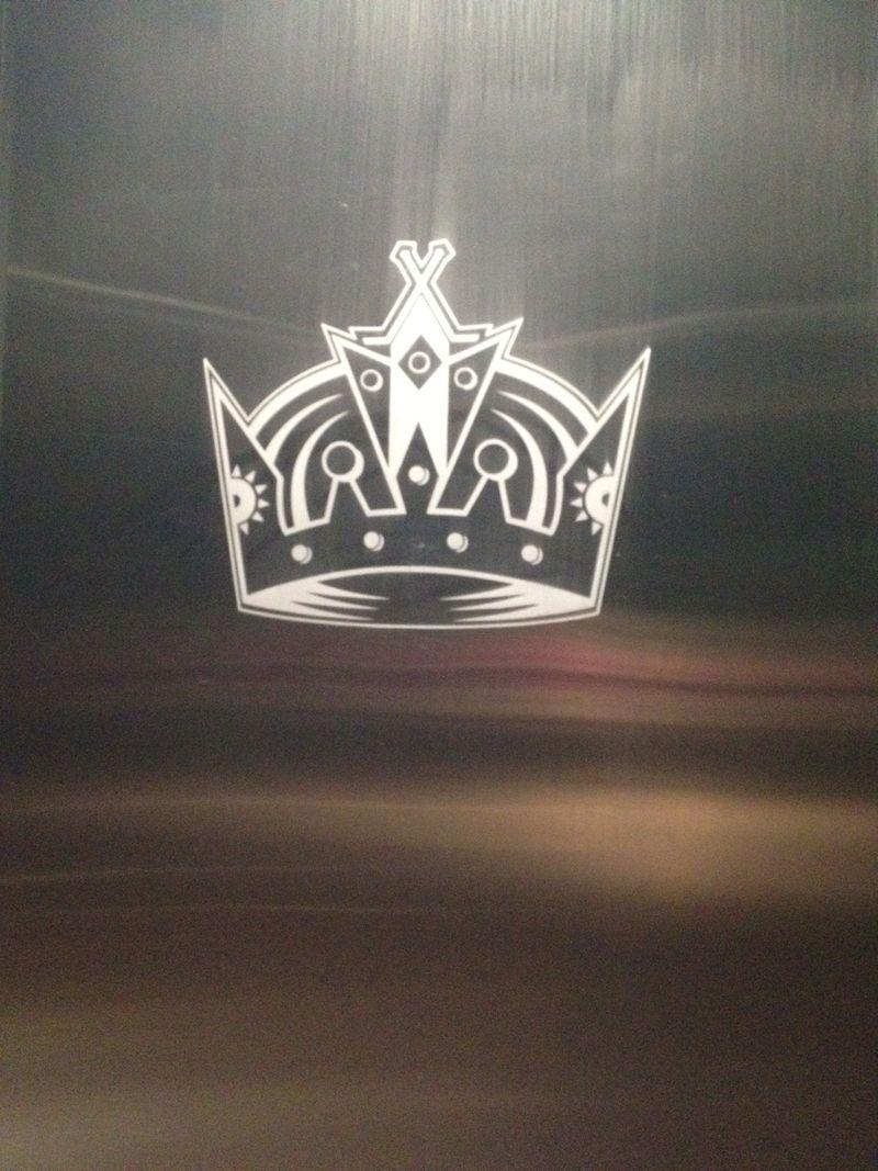 Kings locker room door